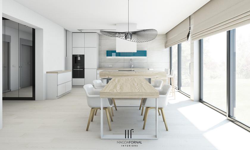Magda Fornal  projektowanie wnętrz domów, mieszkań i obiektów użyteczności p   -> Projekt Kuchnia Restauracja Koszalin
