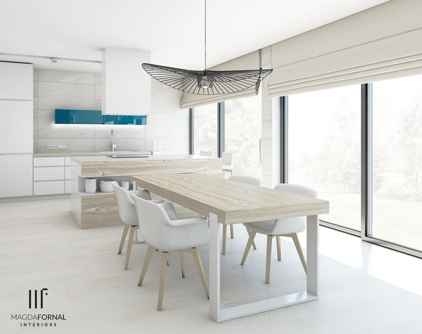 Magda Fornal  projektowanie wnętrz domów, mieszkań i   -> Projekt Kuchnia Koszalin Menu